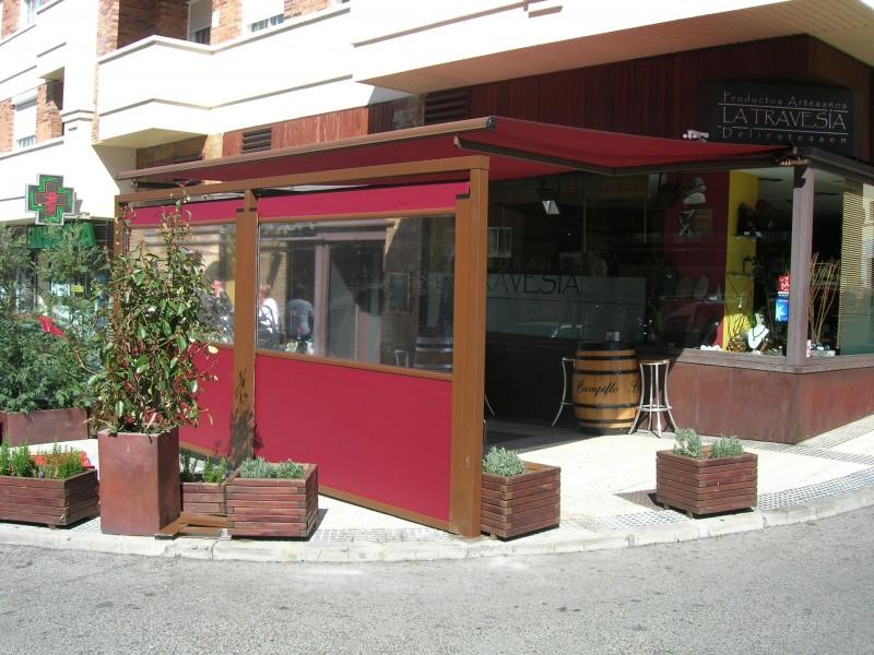 Toldos para restaurantes cafeterias y bares toldos m stoles - Toldos terrazas bares ...