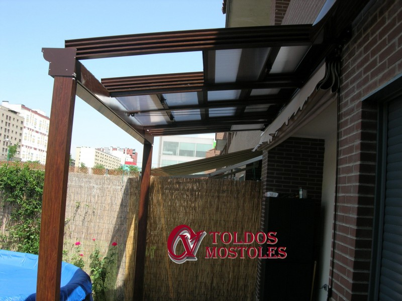 Techos m viles madrid techos corredizos terrazas porches - Toldos para porches ...