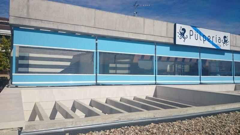 C mo cerrar una terraza con toldos verticales en madrid - Como cerrar terraza ...