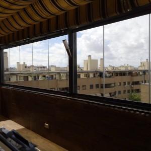 cortina de cristal instalada en Pinto por TOLDOS MÓSTOLES